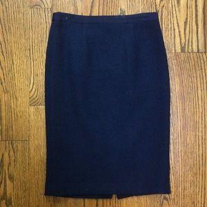 Boden navy tweed pencil skirt US sz 4